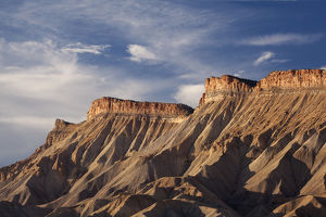 USA, Colorado, Grand Junction. Eroded mud hills