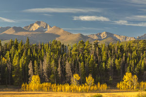 USA, Colorado, Rocky Mountain National Park. Mountain and forest landscape. Credit as