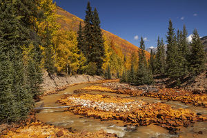 USA, Colorado, San Juan Mountains. Red Mountain Creek landscape