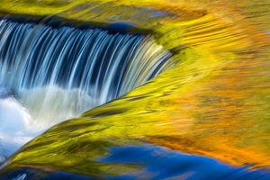USA, Michigan, waterfall, abstract