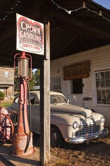 USA, Mississippi, Jackson. Mississippi Agriculture and Forestry Museum, old gas station