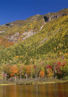 USA, New Hampshire, White Mountains, Crawford Notch State Park, Mount Webster rises