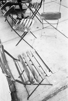 USA, NEW YORK: New York City Cafe Chairs, Greenwich Village