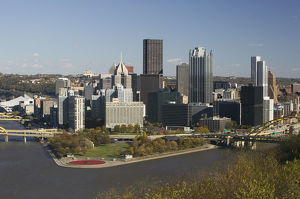 USA-Pennsylvania-Pittsburgh: Golden Triangle Downtown Area from Mt. Washington