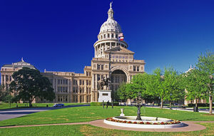 USA, Texas, Austin. View of the state capital building
