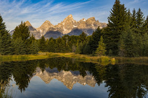 USA, Wyoming, Grand Teton National Park, reflections