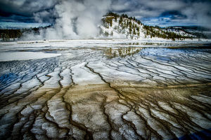 USA, Wyoming, Yellowstone National Park, winter, springs