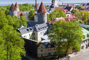 View of Tallinn from Toompea hill, Old Town of Tallinn, UNESCO World Heritage Site