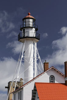 Whitefish Point Lighthouse, the oldest operating light on Lake Superior, Upper Peninsula