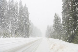 places/winter driving conditions mount hood oregon usa