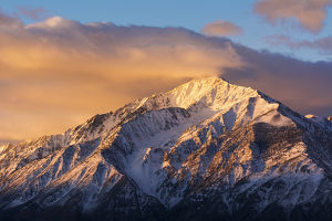Winter sunrise on Mount Tom, Inyo National Forest, Sierra Nevada Mountains, California