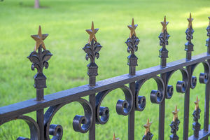 Wrought iron fence, State Capitol building, Austin, Texas, USA