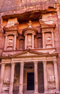 Yellow Treasury in Morning Becomes Rose Red in Afternoon Siq Petra Jordan Petra Jordan